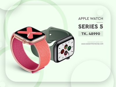 Apple Watch 5 Flyer Design