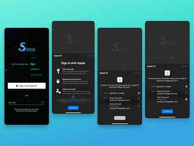 Since ios app ios sso signup log in sign in mobile app design mobile app app ux  ui