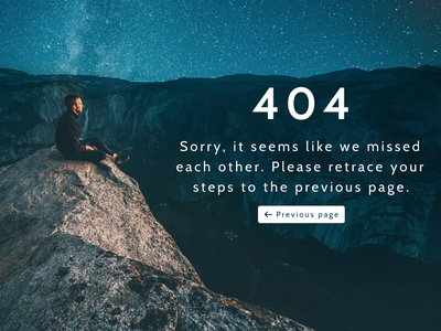 404 Page error page ux  ui 404 page