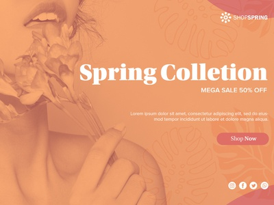 Spring collection banner template Free Psd