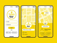 Interface of taxi app concept Free Vector