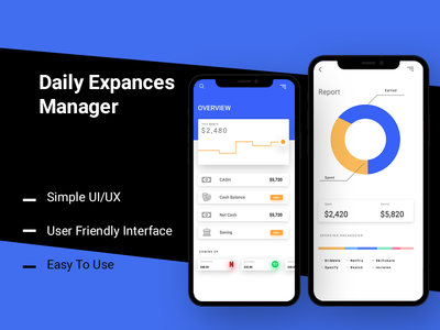 Daily Expance Manager design andriod photoshop