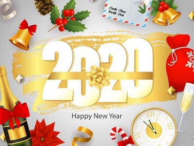 new year image of 2020