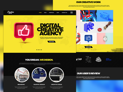new creative agency web template for new creativity
