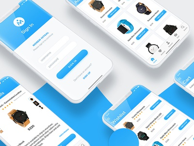 Ecommerce iOS UI Design For iPhone X PSD