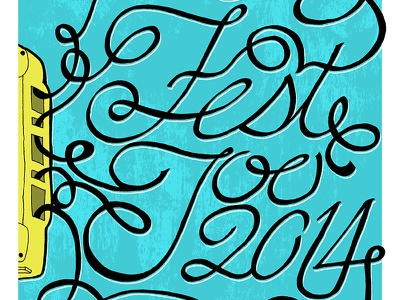 Fest Too 2014 Poster lettering illustration typography print
