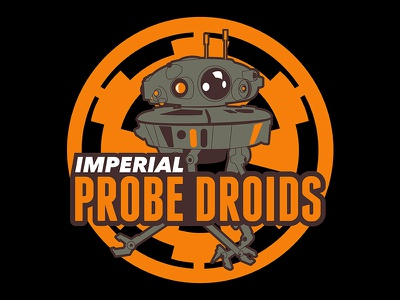 Imperial Probe Droids star wars illustration logo