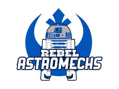Rebel Astromechs star wars illustration logo