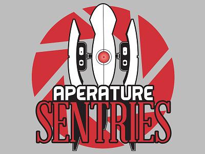 Aperature Sentries illustration logo portal
