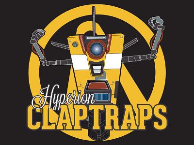 Hyperion Claptraps logo logo design illustration claptrap