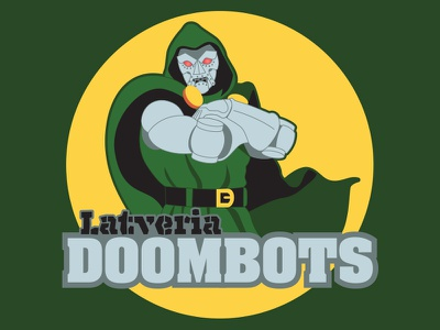 Latveria Doombots logo logo design illustration doombots