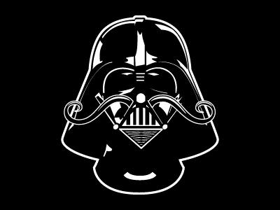 Vader Stache vector star wars stache illustration