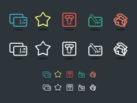 Postcard Icons Version 2