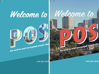 Postcard Welcome Screen