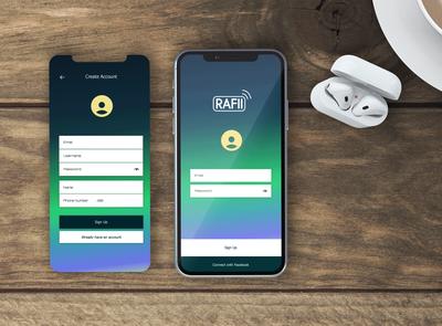 Rafii - App UI/UX Design