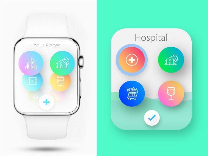 Green Watch App android apple ios wearable watch ux ui design app interaction interface user