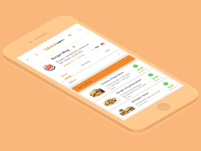 Talabat App Redesign redesign interaction ios application food mobile ux ui