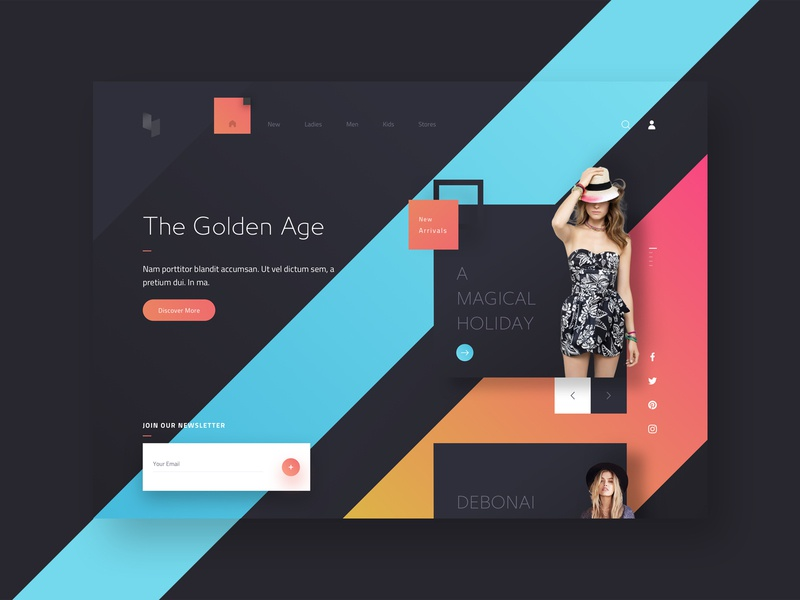 AVIN E-Commerce Web Template site user experience creative simple template download web webdesign user interface interaction application animation sketch concept design ux ui