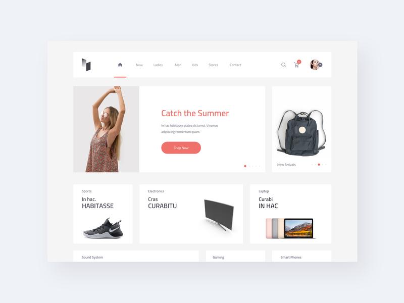 AVIN Home Screen template creative fashion app fashion ecommence interaction web webdesign user interface sketch concept design ux ui