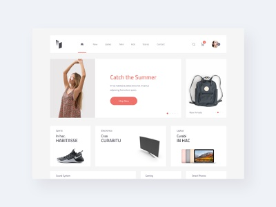 AVIN Home Screen template creative fashion app fashion ecommence interaction web webdesign user interface sketch concept design ux ui