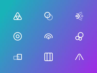 New Icons target devices panel thought signal road icons