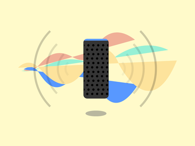 Hey Alexa, do you Dribbble? echo sound soundwaves design illustration amazon echo alexa