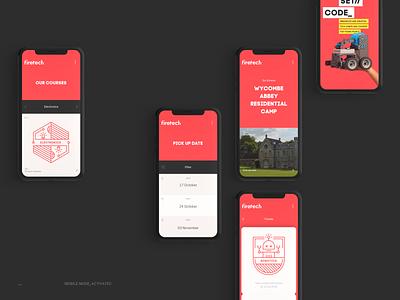 Firetech — Mobile views fun design mobile iphone branding ui