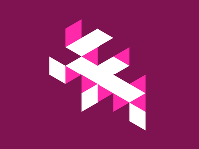 36 days of type - F angles design inspiration typography bright pink isometric perspective flat 36days-f 36daysoftype