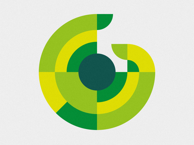 36 days of type - G round typography graphic design bright spiral geometric curves green g 36daysoftype 36days-g