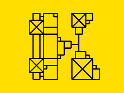 36 days of type - K abstract design adobe cool k experimental typography squares lines mechanical 36days-k 36daysoftype