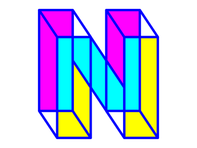 36 days of type - N neon letter text fluorescent bold bright lines detail experimental typography design n 36days-n 36daysoftype