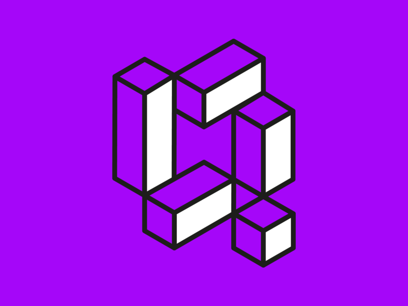 36 days of type - Q isometric 36days-q q alphabet design headhurts purple lines geometric experimental type typography 36daysoftype