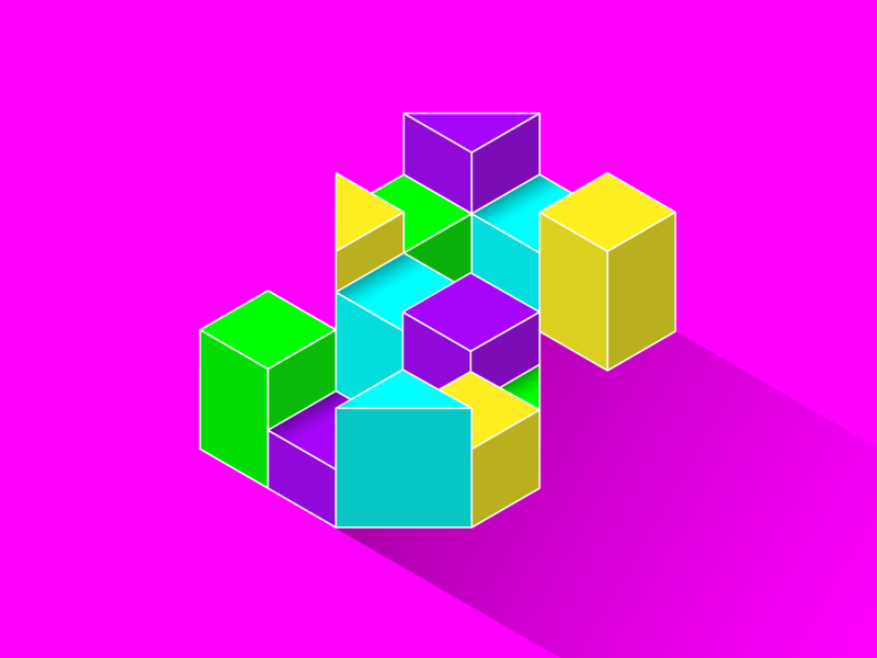 36 days of type - S isometric 36days-s s pink fluorescent colour adobe typographic bold design geometric experimental bright typography 36daysoftype
