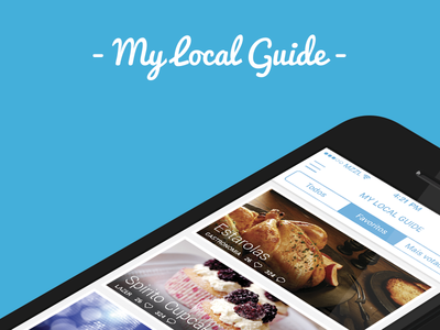 App: My Local Guide - Homepage