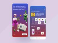 Delivery App illustration shop app market app market new shop delivery app clean ux ui mobile ios flat figma design application app