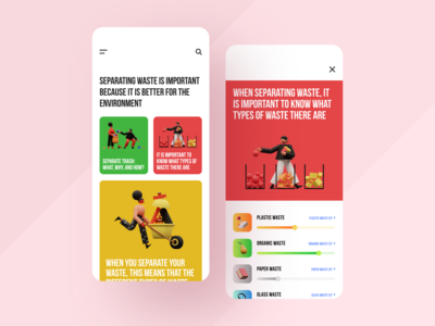 Separate Trash App environment clear design ecology app separate app clean ux ui mobile ios flat figma design application app