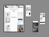 E-Store Design ux ui layout design grid design adaptive web design fashion design clothes store branding clean flat figma design web