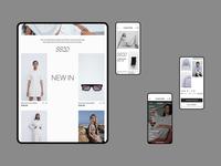 E-Store Design ux ui layout design grid design adaptive web design fashion design clothes store branding clean flat figma design web