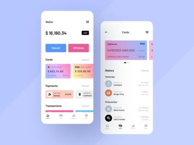 Financing App finance finance app bank app banking clean design clean sketch ux ui mobile ios flat figma design application app