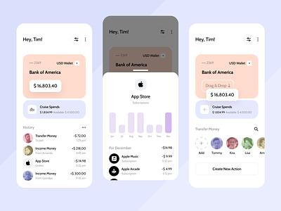 Banking App branding rebound finance bank app banking app clean ux ui mobile ios flat figma design application app