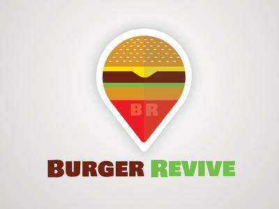 Burger Revive logo typography branding icon icons iconography brand type flat flat design