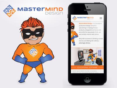 Mastermind-Design Branding icon logo cartoon hero branding brand ui ux iphone app mobile layout