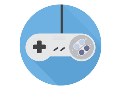 Super Nintendo Controller Icon  flat flat design icon icons nintendo pokemon zelda mario