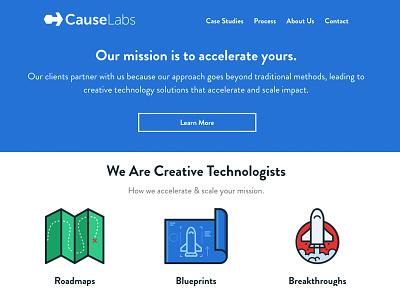 causelabs.com redesign illustration landing page web