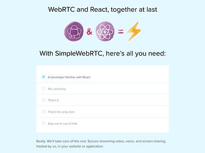 SimpleWebRTC checklist css html ux user experience ui user interface checklist