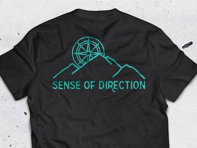Compass Shirt Apparel Design mountain range mountain direction t-shirt shirt apparel design apparel illustration compass