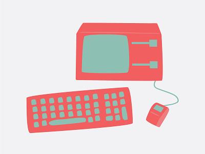 Apple Lisa doodle doodle computer apple lisa apple illustration lisa