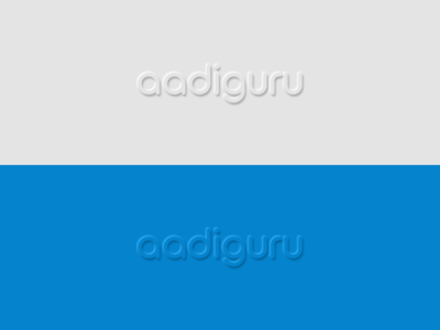Neumorphism- Aadiguru Logo