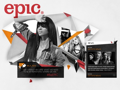 Epic Records Initial Site Moodboard