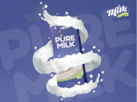 Pure Cow Milk Package Design